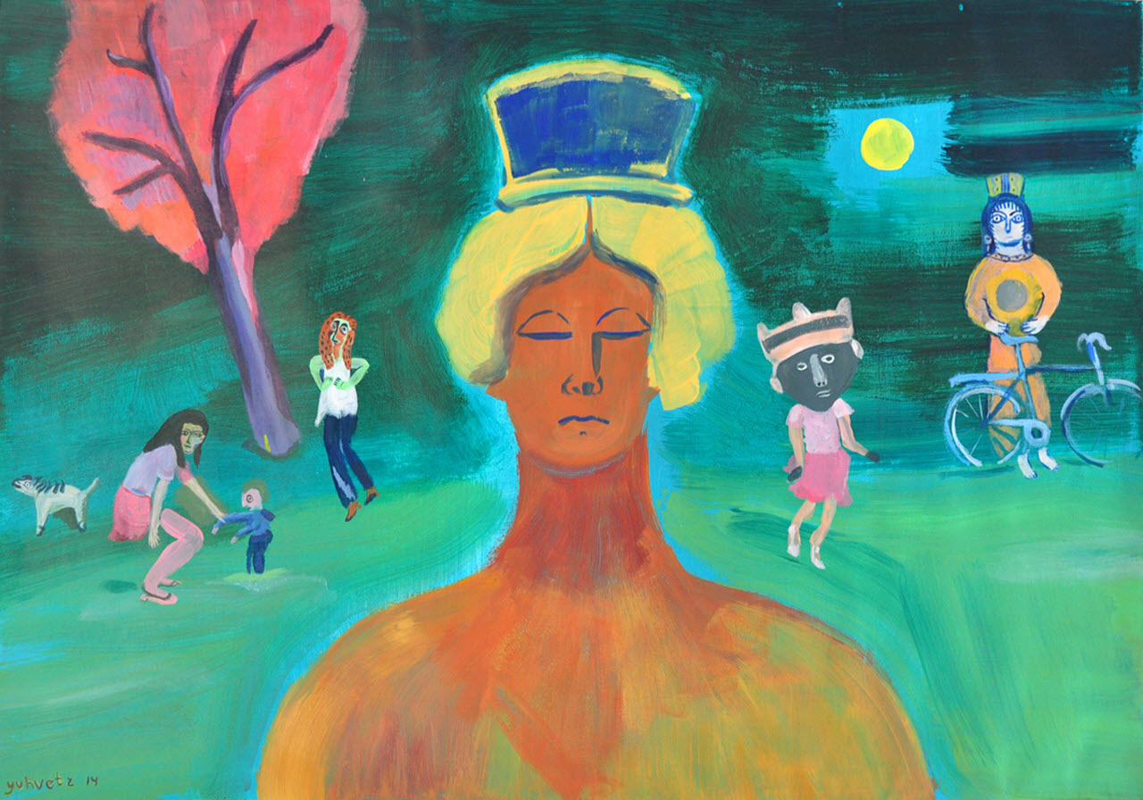 Goddess | Acrylic on paper / 100x71cm / 2014
