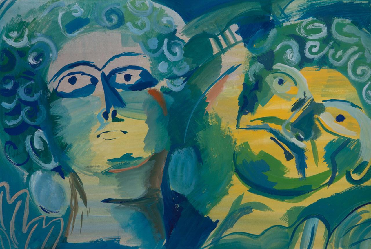 Hisham   Acrylic on Paper / 48x33 cm/ 2014