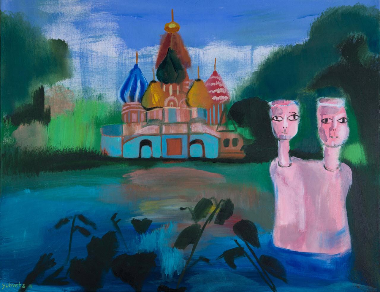 Twins   Acrylic on Canvas / 90x70cm / 2014