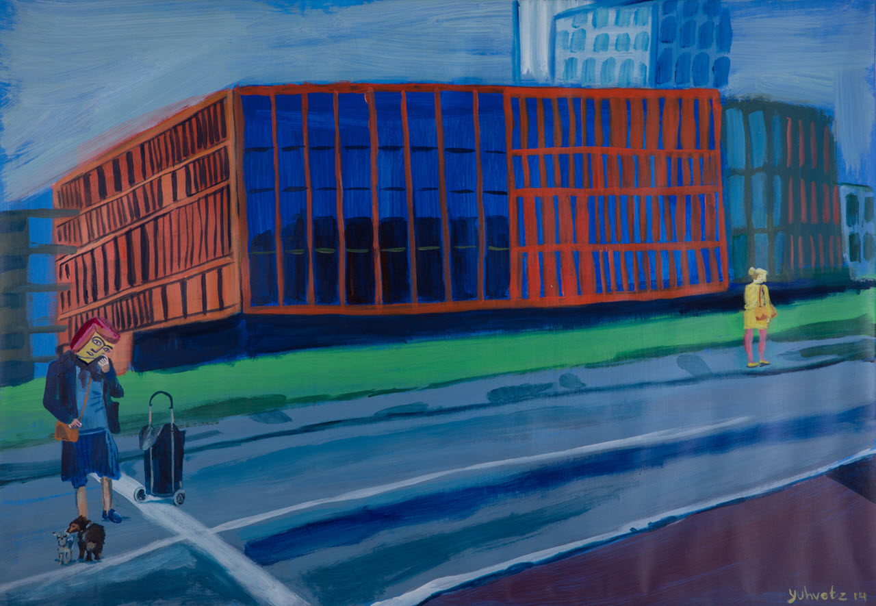 Lost and found in Malmo   Acrylic on paper / 100x70cm / 2014