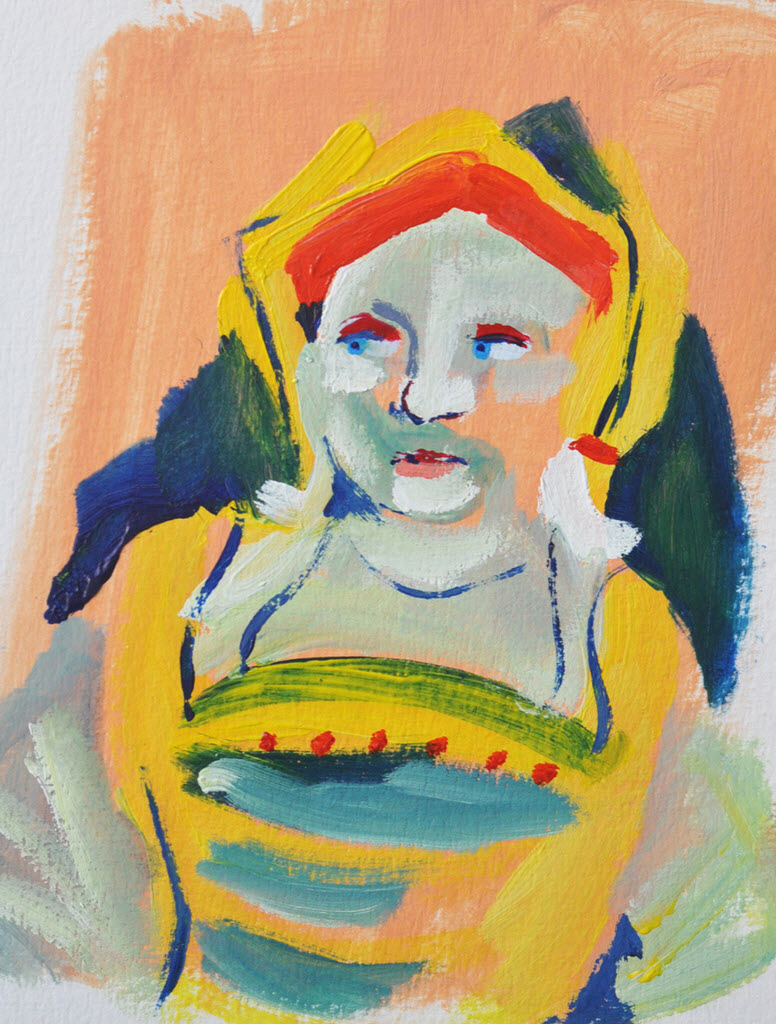 Old Masters Portraits   Acrylic on Paper / 15x18 cm / 2014