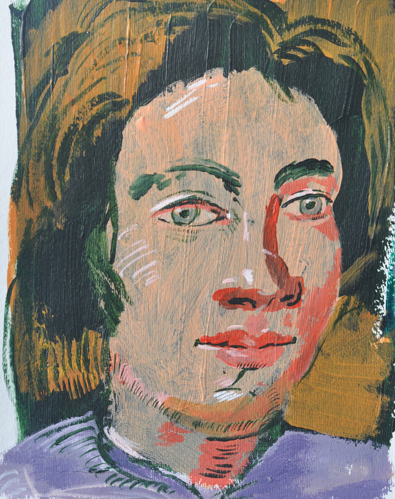 Old Masters Portraits   Acrylic on Paper / 16x23 cm/ 2014