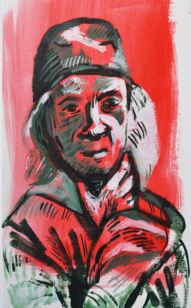Old Masters Portraits   Acrylic on Paper / 15x29 cm/ 2014