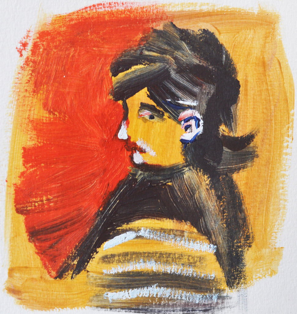 Old Masters Portraits   Acrylic on Paper / 13x13 cm/ 2014