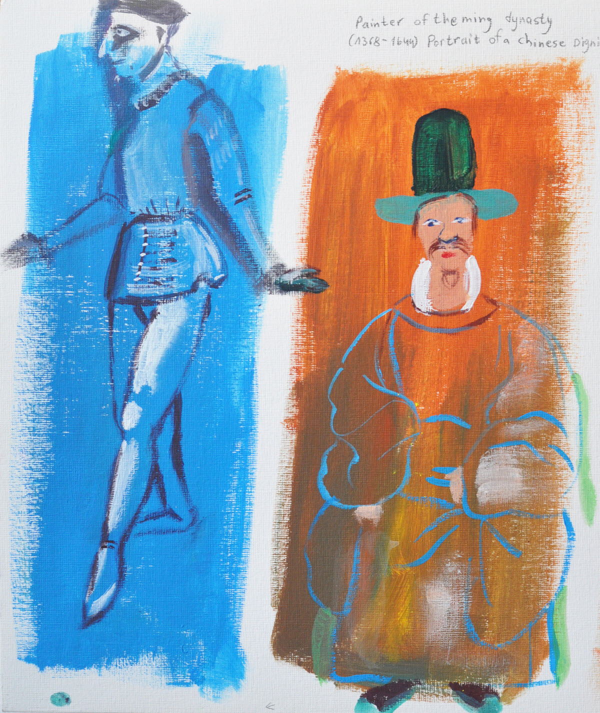 Old Masters | Acrylic on Paper / 25x31 cm/ 2014