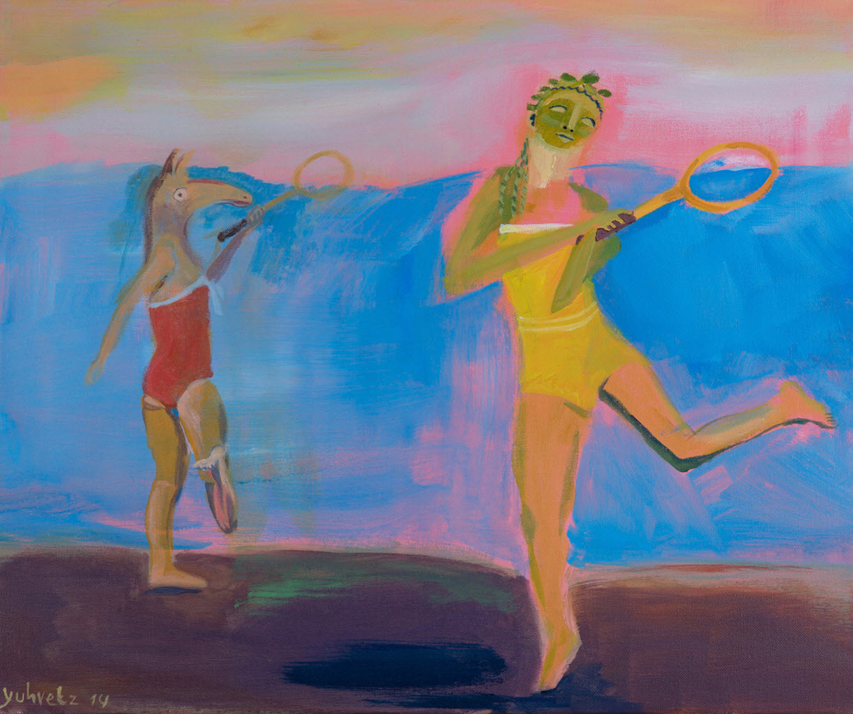 Playing In The Dead Sea   Acrylic on canvas / 60x50cm / 2014