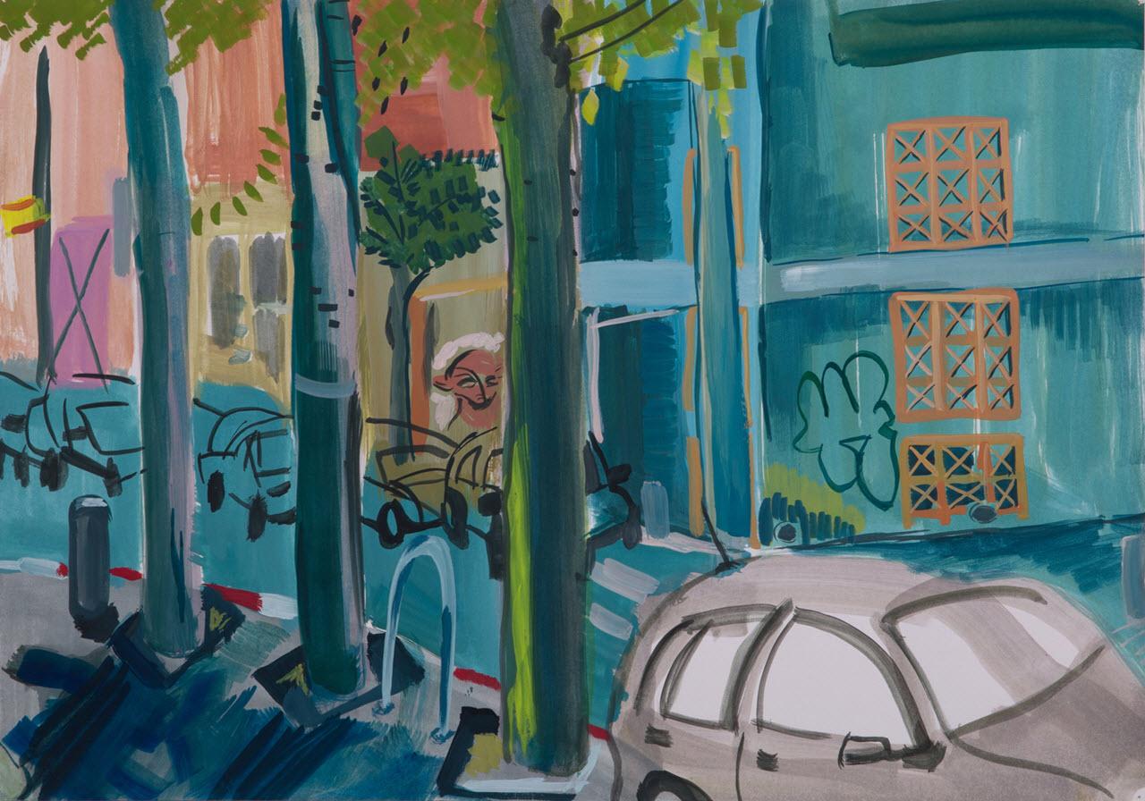 South Tel-Aviv | Acrylic on Paper / 50x35 cm/ 2014