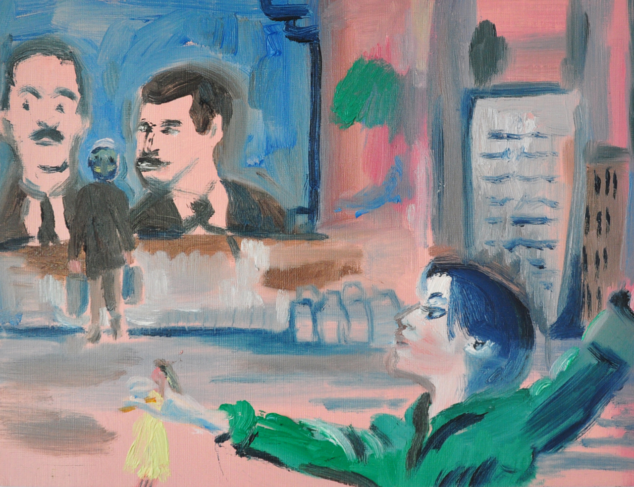 Princess Belle in Syria | Oil on Paper / 31x23 cm / 2015